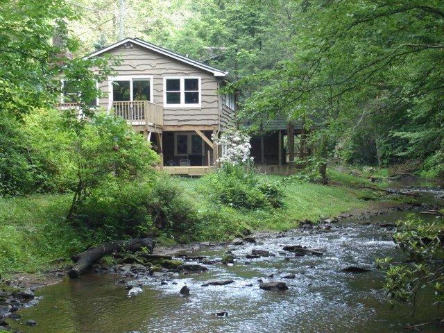 Accès à la New River depuis le Anglers Cabin