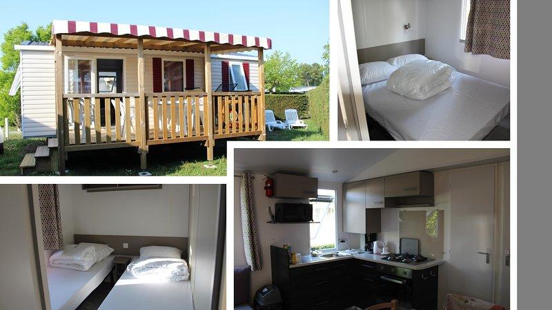 Location Mobil-home 4-6 personnes aux Charmettes 4 étoiles en Charente-Maritime, location de vacances à Les Mathes