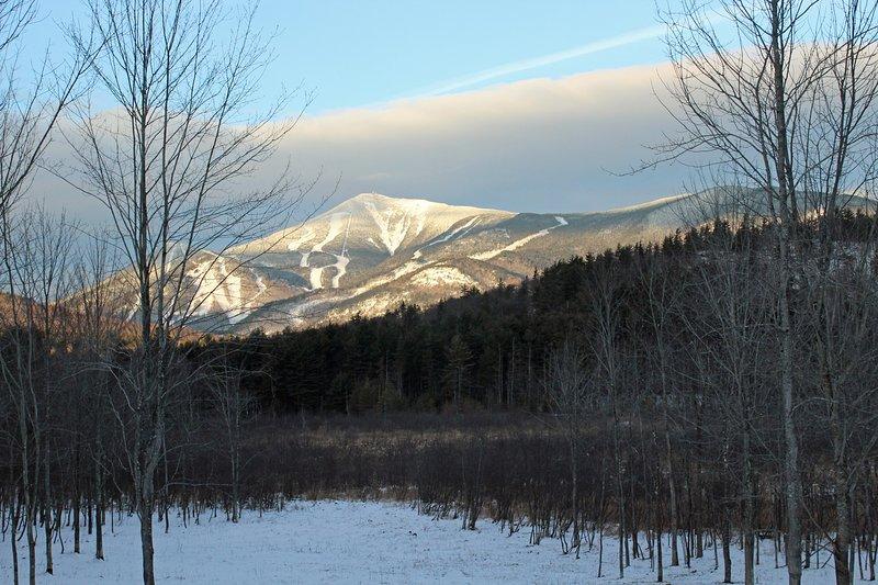 Uitzicht op Whiteface Mountain en de ski-pistes.