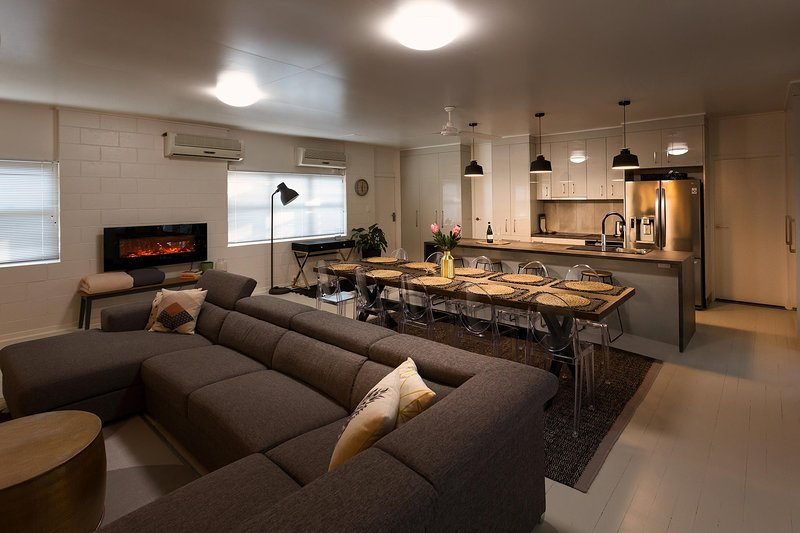 Open Plan Living Area with Gourmet Kitchen, Dining and Lounge Areas