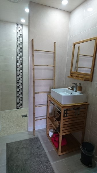 Shower room with large walk-in shower
