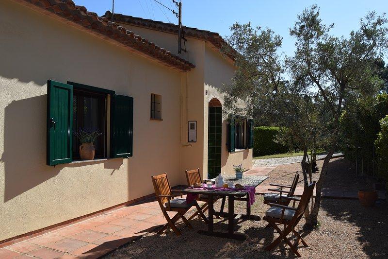 Zuidelijke deel van de tuin met de ingang van het huis - SA PUNTA COSTA BRAVA