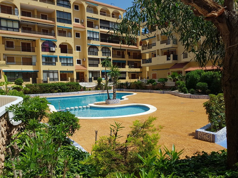 Sunny Apartment with garage in La Mata 3 minutes walk from the beach, holiday rental in La Mata