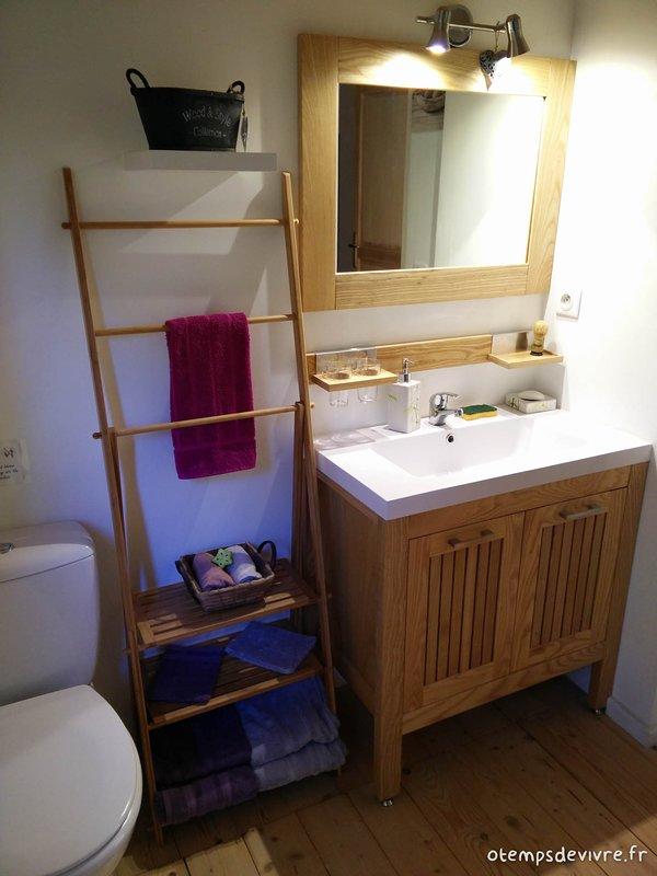The beauty area of the bathroom