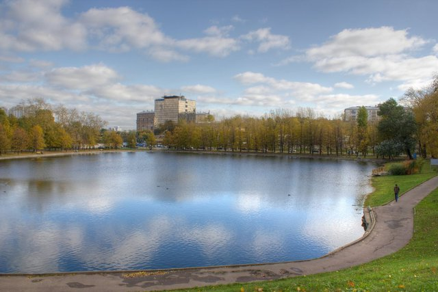 beautiful pond nearby
