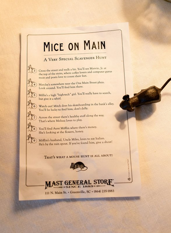 Try the Mice on Main experience downtown. Fun for kids and family alike!