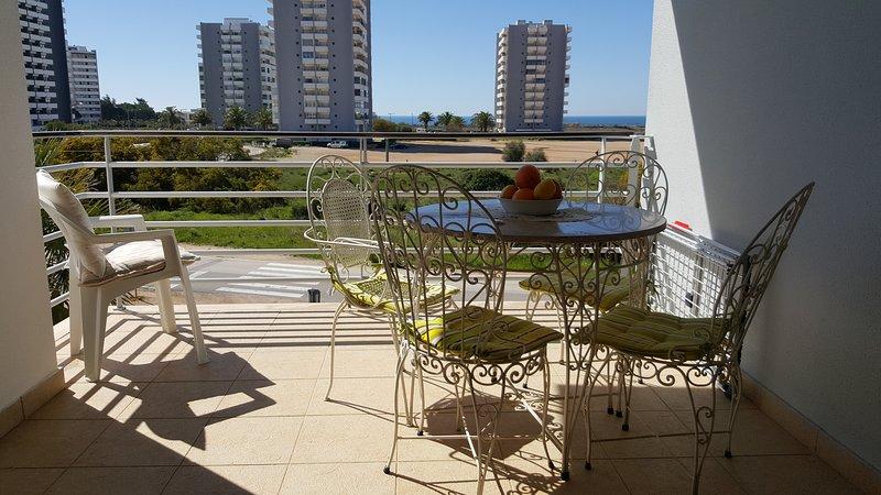 South facing balcony with ocean views