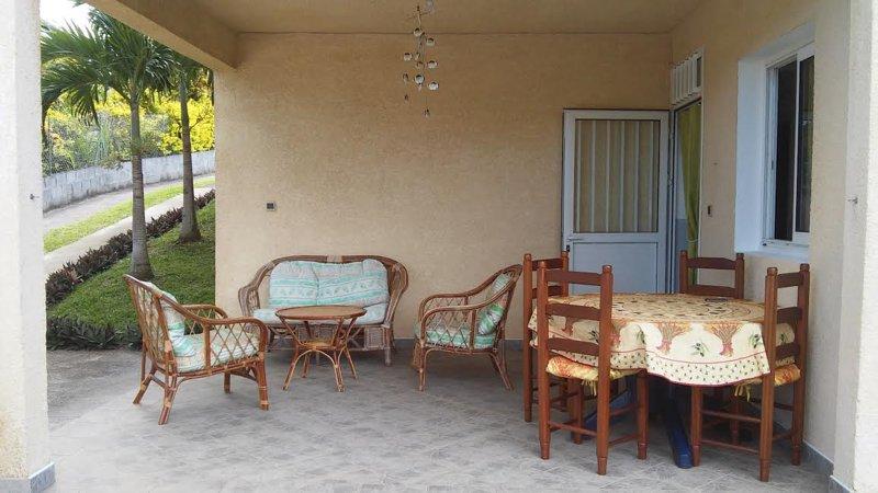 veranda of the apartment on the ground