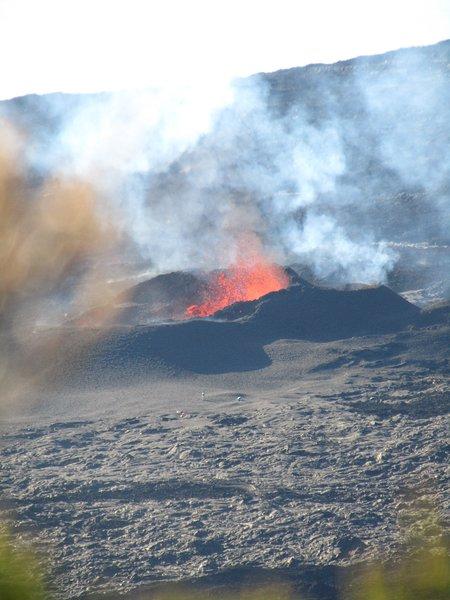 Le volcan a 45 mn