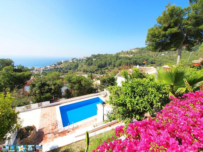 Finca León *** spacious villa *** very private pool *** stunning sea views, holiday rental in La Herradura