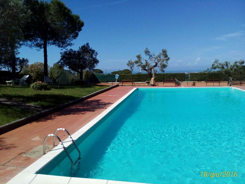 Residence La Villa Apartment with pool, holiday rental in Montescudaio