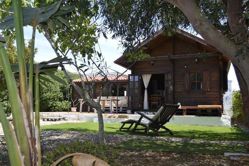 casa di legno Esterno sulla proprietà privata