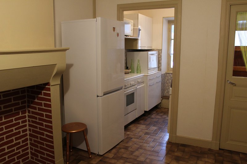 A functional and well equipped kitchen