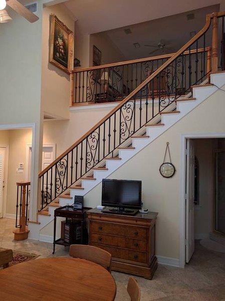 Vista lateral de escadas