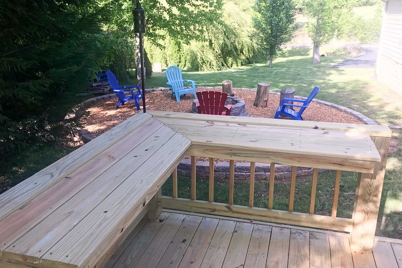 Sit out on the deck for some fresh air.