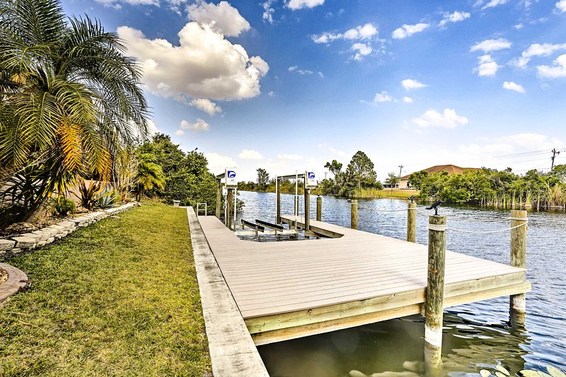 The Cape Coral sun is awaiting you at this lovely vacation rental home w/ dock!