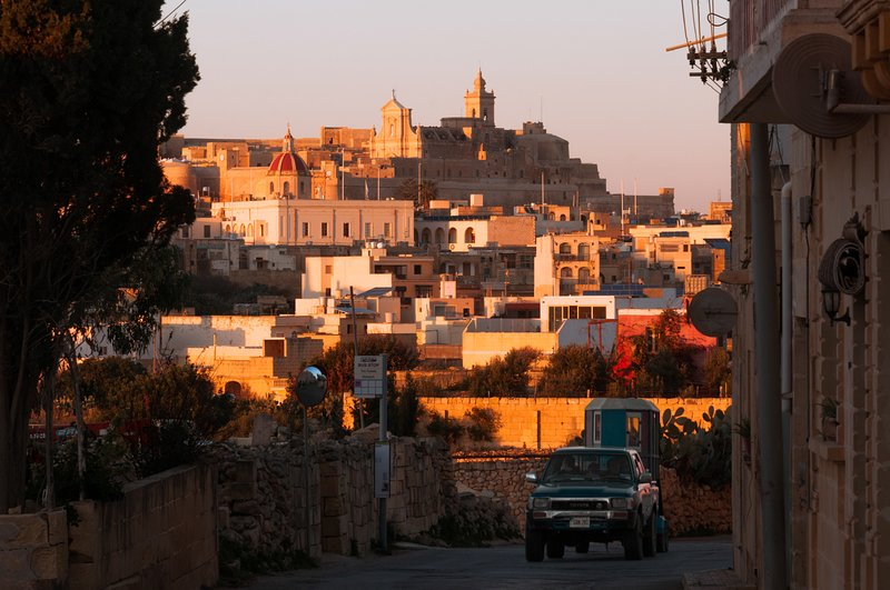 The Gozo Cittadella 8 min drive from the house