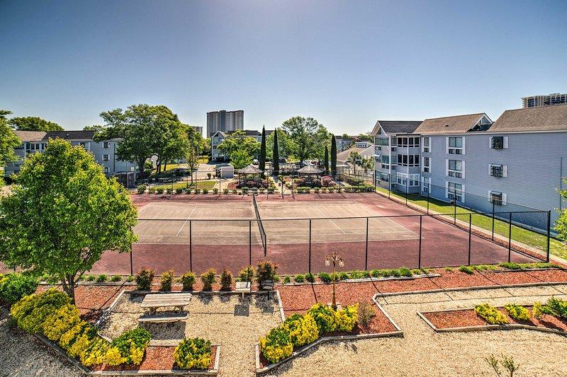 Allenarsi sul campo da tennis!