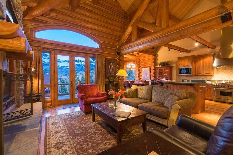 Enjoy mountain views even from inside the living room.