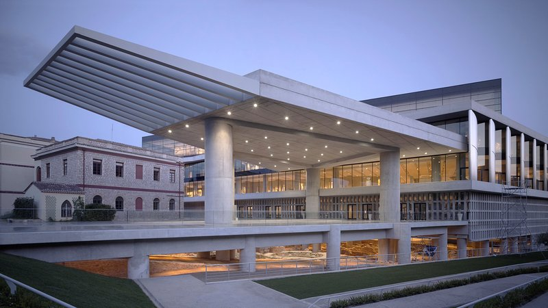 The new Acropolis museum is minutes walk !