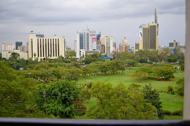 Vista de la ciudad de Nairobi Centro de algunas de las habitaciones