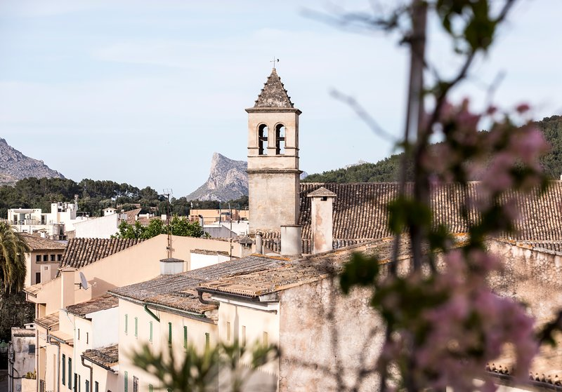 View over the rooftops Pollencas