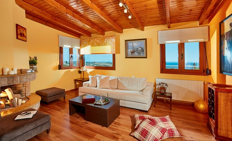Stylish pool side apartment with stunning sea view, vacation rental in Agia Pelagia
