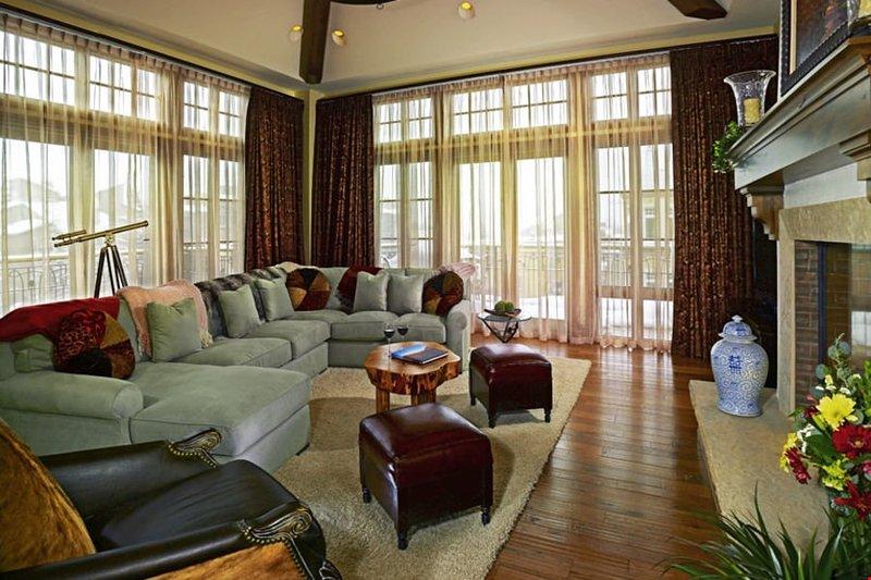 Nehmen Sie Platz in dem gemütlichen Wohnzimmer nach einem Tag auf der Piste.