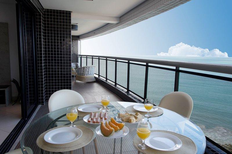 LAN1109 Luxuoso apartamento de 3 quartos com a melhor vista de Fortaleza, casa vacanza a Fortaleza