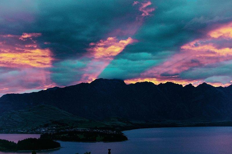 Sunrise uitzicht vanaf Mountain Vista