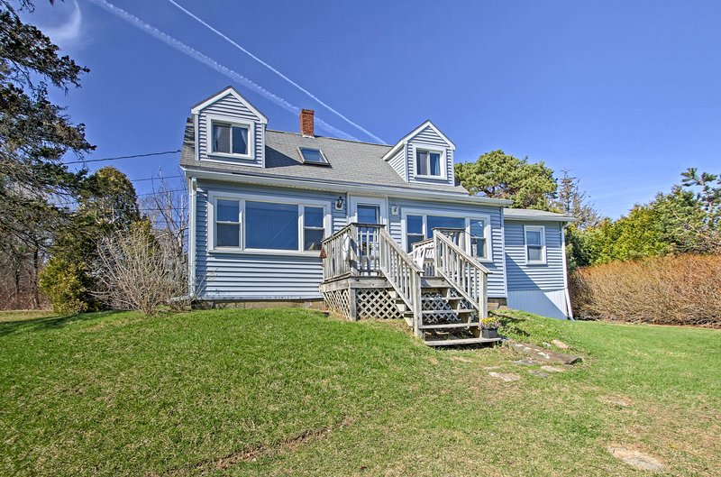Escape to this quaint vacation rental cottage, nestled on Tidal Cove.