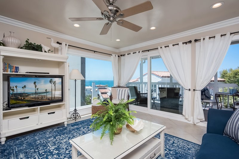 Views, views, views.  Ocean view living room