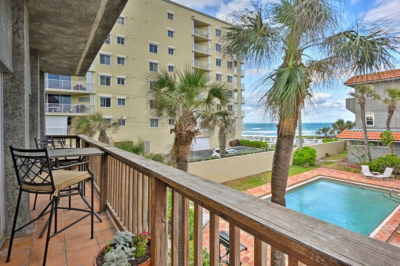 Located in Indialantic, this home for 5 is beachfront.