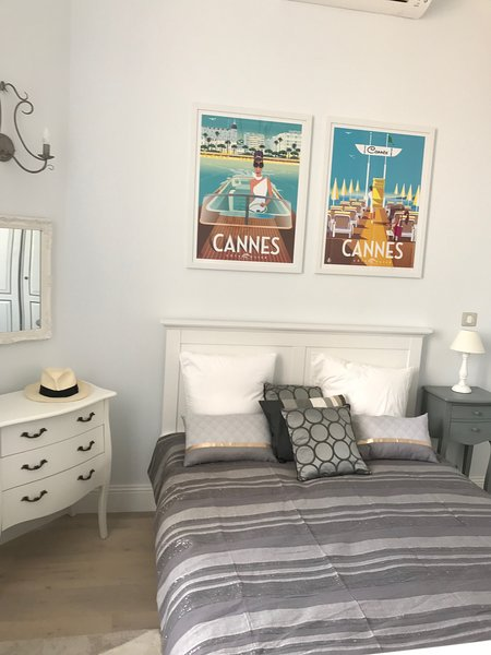 En suite bedroom with views toward Alpes Maritime
