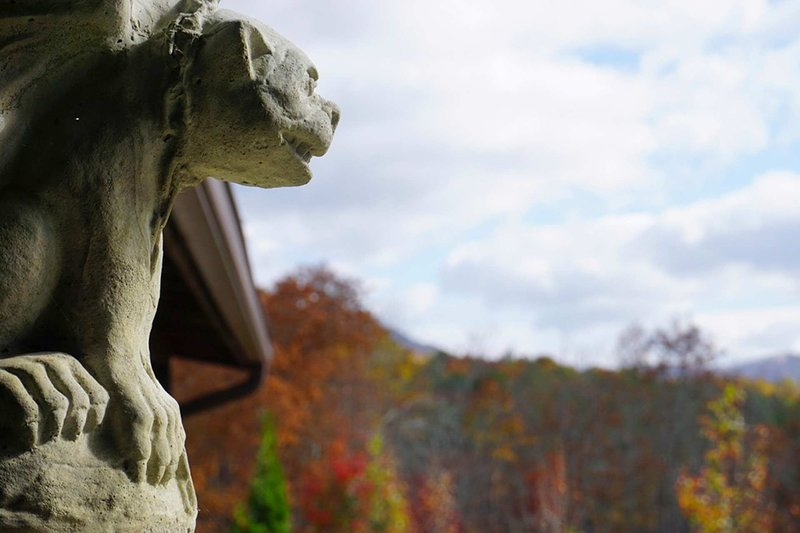 Gargoyles keep guard during your Murphy vacation.