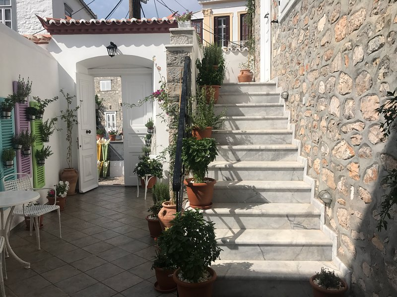 Steps to the entrance
