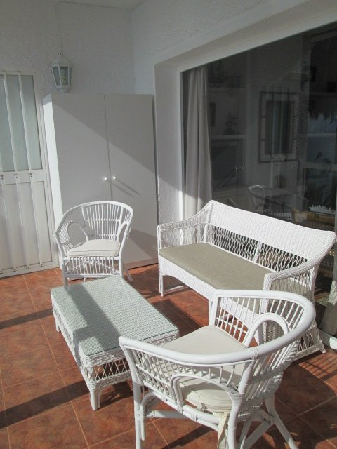 Main Terrace with rattan suite. Seats 4 people.