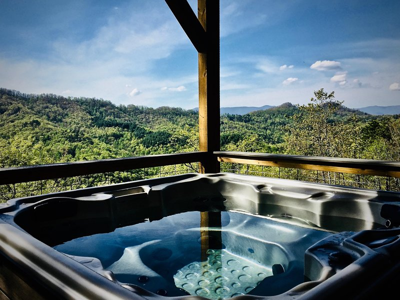 Sparkling Hot Tub Hydro-Therapy and Specially placed Jets to relieve Tension...