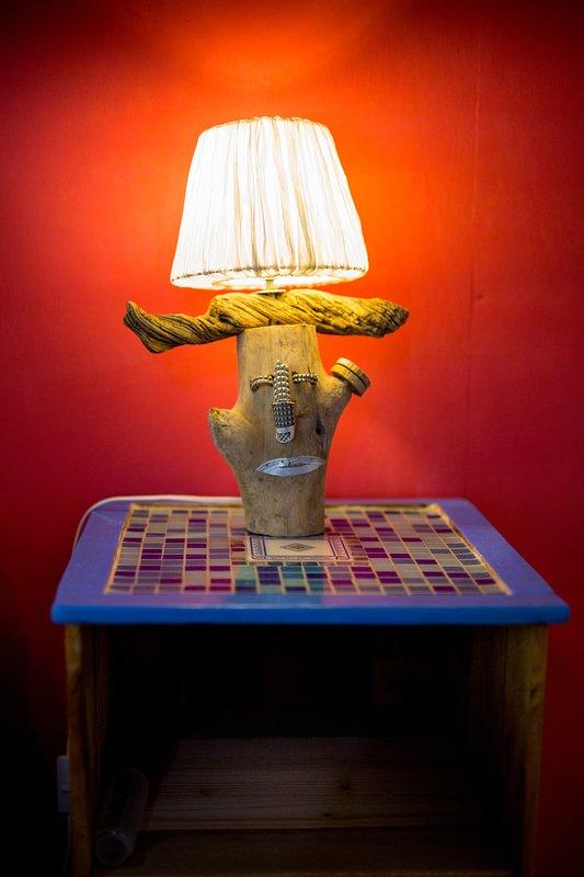 lámpara de bricolaje