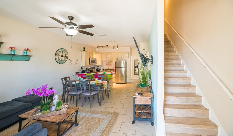 Spending your time together in the open living space with fully equipped kitchen
