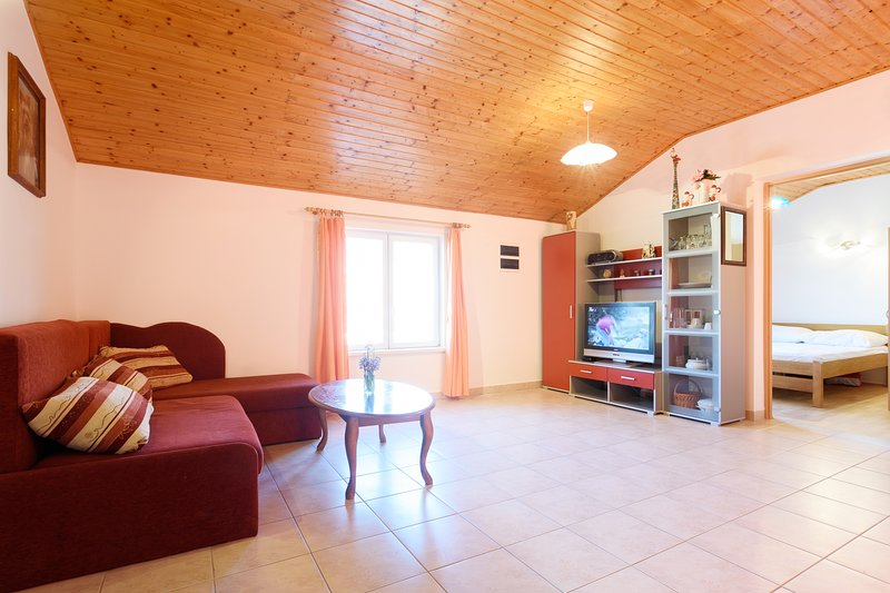 Family apartment close to beach with terace, holiday rental in Gornji Karin