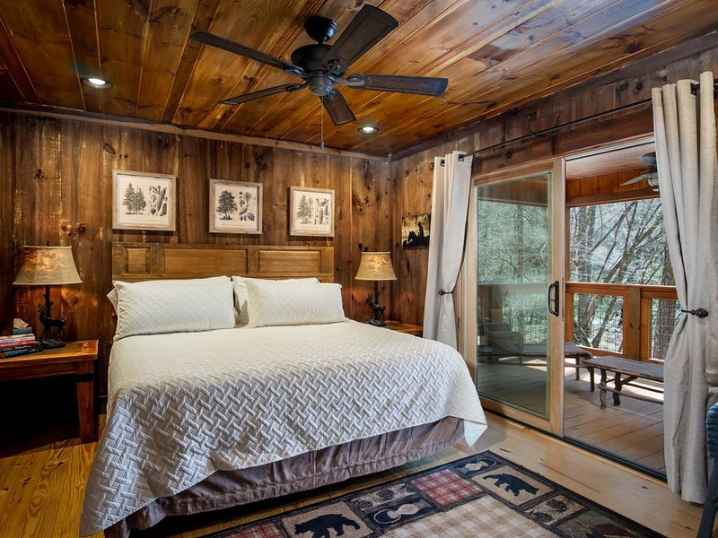 Master bedroom  with private porch first floor