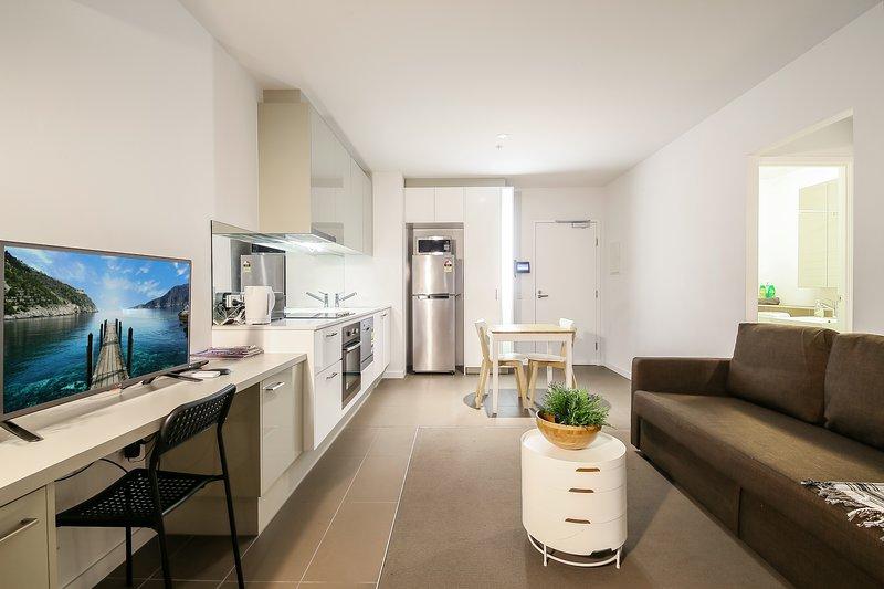 Un intérieur moderne, spacieux et confortable.