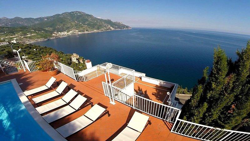 VILLA OLIMPO Castiglione/Ravello - Amalfi Coast, vacation rental in Ravello