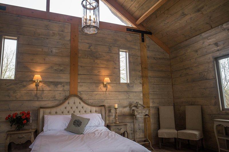 cabane en rondins romantique
