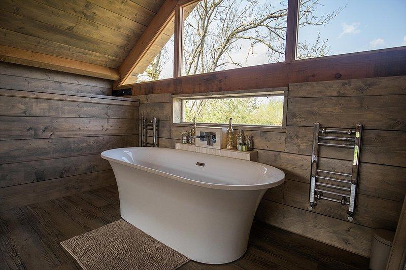 Niveau mezzanine rouleau supérieur bain avec vue