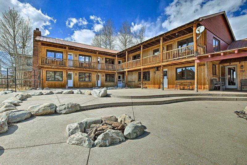 Celebrate life at 'Marooned Inn,' a Grand Lake vacation rental cabin sleeping 24!