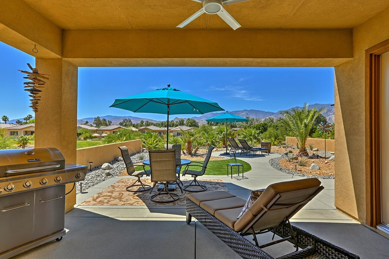 Experience the beauty of the desert at this Cathedral City vacation rental villa