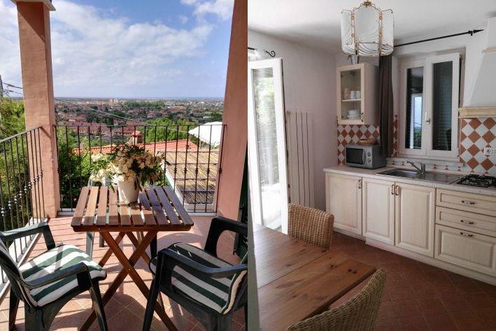 Appartamento MIRAMARE sulle colline di FORTE DEI MARMI splendida vistamare, alquiler vacacional en Ripa-Pozzi-Querceta-Ponterosso