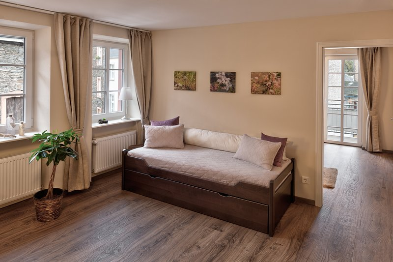 Children's double bed in the living room